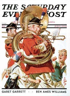imalegionnaire:  a Saturday Evening Post cover by J.C. Leyendecker