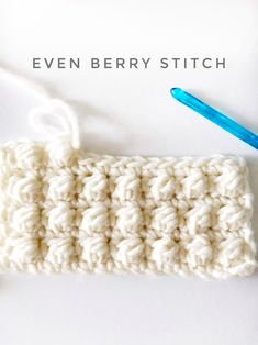 The Even Berry Stitch is a variation of a cluster stitch. Or, could be in the category of a…