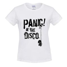 2017 Summer Style Women Short Sleeve Shirt Snap T-shirt Panic! At The Disco ladies Tee White XL Printing Round Neck  #L09582 #fashion #highschool #kids #handbags #backpack #YLEY #bag #shoulderbags #WomenWallets #bagshop #Happy4Sales  #NewArrivals