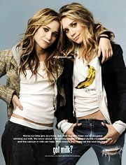 Got milk is famous for their celebrity campaigns. When the Olsen twins were chosen to be photographed, their story - which said that they need to drink milk to grow taller and get the vitamins necessary - resonated with tweens and teens all around the globe.