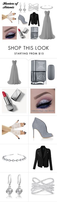 """""""Hunters Of Artemis"""" by sparklingpearl619 ❤ liked on Polyvore featuring Burberry, Gianvito Rossi, Bling Jewelry, LE3NO and Effy Jewelry"""