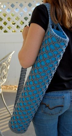Yoga Mat Bag - My next project in a nice medium grey to compliment my bright…