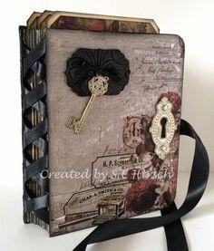 My Mindful Creations: Stationer's Desk Altered File Folder Mini Album Journal