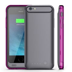 "iPhone 6 Plus Battery Case KINGCOOL(TM) 3100mAh External Rechargeable Portable Charger Backup Power Bank Battery Pack Cover Cases Fit for Apple iPhone 6 5.5"" 2014 Release(Gray and Purple) Powerful 3100mAh Li-polymer rechargeable battery can effectively provide 100%+ extra battery life for your iPhone 6 plus,Only compatible with the 5.5 inch model Check power status at a glance with an integrated 4-light LED status indicator Built in short circuit and over charge protection"