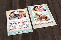 Check out Christmas Card Template - Bokeh by Creative Crown on Creative Market