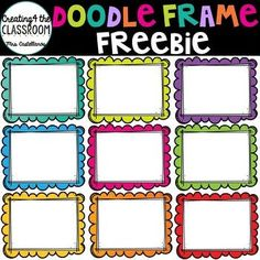 clip art freebies Doodle Frame Clip Art Freebie {Free Clip Art} by the Classroom Preschool Classroom, Classroom Themes, Classroom Organization, Classroom Clipart, Kindergarten, Preschool Crafts, Beginning Of The School Year, First Day Of School, Free Clipart For Teachers