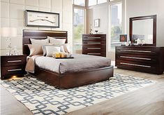 Like it but might roll off the bed still beautiful bed lacquercraft 6 piece king bedroom for Ashfield 6 piece queen storage bedroom set