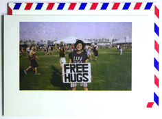 This guy is on point.  Polaroid shot at Coachellaaaaa. Each notecard is 3.5 x 4.9, printed on crisp, white 14 pt. stock and tucked into a nostalgic airmail envelope.