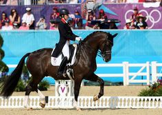 Charlotte Dujardin and Valegro at Olympia 2012  www.goldenrabbitsaddlery.com