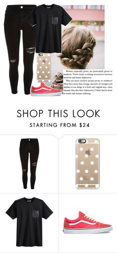 """""""Thinking"""" by tay-tay-marie ❤ liked on Polyvore featuring INDIE HAIR, Black, Casetify, Hurley and Vans"""
