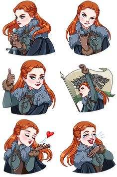 Sansa Stark Stickers by Tamara Gerasun Game Of Thrones Series, Game Of Thrones Tv, Dessin Game Of Thrones, Game Of Trones, Sansa Stark, Film Serie, Cultura Pop, Games For Girls, Winter Is Coming