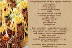 Geurige Maalvleis en kaas roosterbrood
