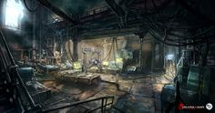 Concept for Halvo Bay Military Academy in GoW: Judgment. Fast concept for establishing mood and architecture of the level, created in Halvo Bay Military Academy Lab Cyberpunk, Space Opera, Sci Fi City, 3d Mode, Spaceship Interior, Dead Space, Futuristic Art, Game Concept Art, Environment Concept Art