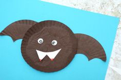 Cupcake liner bat craft for kids