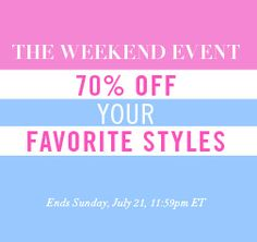 Weekend Events, Sales, Coupon Design, Fashion Story, Latest Trends