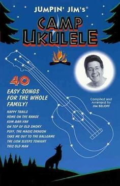 (Fretted). Here's ukulele fun for the whole family! Jumpin' Jim's Camp Ukulele is a collection of 40 of some of the best-loved family sing-along songs with easy-to-play ukulele arrangements. Tunes inc
