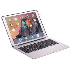 3d9bd412e49 Cooper Kai Skel A1 Backlight Keyboard Aluminum Clamshell w/ Power Bank for Apple  iPad Air 2, Pro 12.9, Mini 4