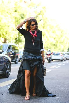 Bin-liner chic is already catching on. #refinery29 http://www.refinery29.com/2015/09/94857/milan-fashion-week-spring-2016-street-style-pictures#slide-26