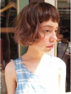 ナヌーク シブヤ(nanuk shibuya)【nanuk】眉上ショートバング×くせ毛風カール×外国人風☆
