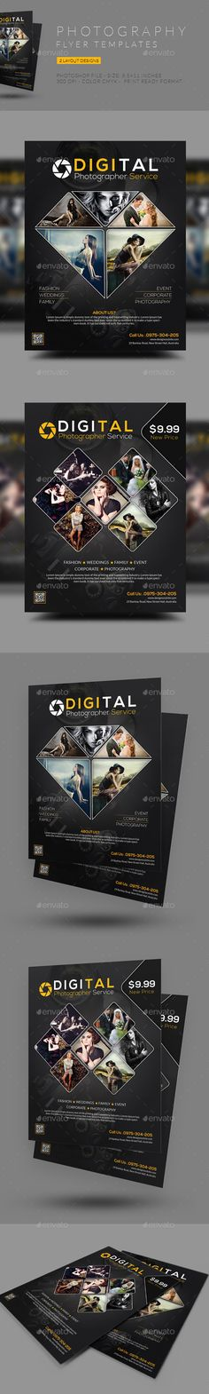Photography Flyer Template #design Download: http://graphicriver.net/item/photography-flyer/12417434?ref=ksioks