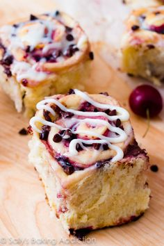Chocolate Chip Cherry Sweet Rolls....these will make you weak in the knees!!