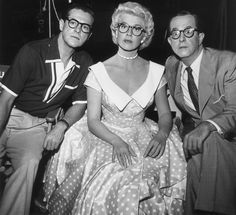 Doris Day, 1954.  Can anyone guess who the two guys are??