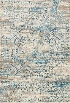 Loloi Kingston Area Rug - This Ivory - Blue rug is an excellent choice for your home. Find out why many others decide to buy from RugStudio Coastal Bedrooms, Coastal Living Rooms, Rugs In Living Room, Dining Rooms, Dining Room With Rug, Living Area, Kingston, Affordable Rugs, Deco Boheme