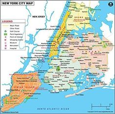 NYC Boroughs Map - NYC is composed of five boroughs namely Manhattan, the Bronx, Queens, Brooklyn, and Staten Island New York City Map, City Maps, Travel Maps, Travel Usa, Casablanca, Carte New York, New York City Attractions, York Museum, Nyc Subway
