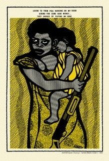 First Published In The Black Panther Newspaper This Screenprint