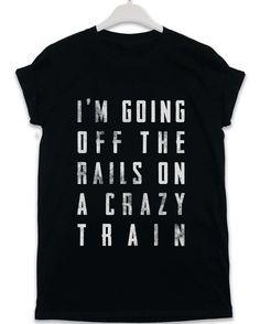 Crazy Train - Lyric Quote T Shirt - Black / XL