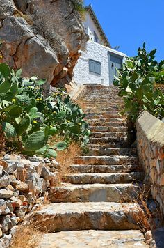 The Rock House, Ydra, Greece Copyright: eleni mavrandoni Greek Island Holidays, Greece Holiday, House On The Rock, Greece Islands, Stairway To Heaven, Greece Travel, Plan Your Trip, Stairways, Beautiful Places