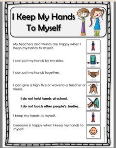 social and emotional development Preschool Special Education, Preschool Classroom, In Kindergarten, Preschool Schedule, Behavior Management, Classroom Management, Coping Skills Activities, Hands To Myself, School Social Work