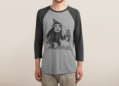 Check out the design M For Monkey: Threadless Baseball Tee by Heiko available on Triblend Sleeve Raglan Tee on Threadless Raglan Tee, Graphic Tees, Unisex, Mens Fashion, Long Sleeve, Sleeves, Cotton, Mens Tops, How To Make