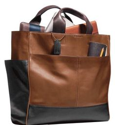 Really like this new men's Coach bag.  It holds everything I need and looks great. The more I use it the better it looks. #agingwell #mensbag #leatherlove