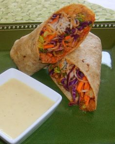 Leafy Greens and Me: Spicy Thai BBQ Wrap with Sweet Ginger Sauce