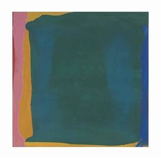 GREEN ARENA  By Helen Frankenthaler    Dimensions: 66½ x 67 in. (168.9 x 170 cm.)  Medium: acrylic on canvas  Creation Date: 1965  http://www.mutualart.com/Artist/Helen-Frankenthaler/406352AD3B6A91D0/AuctionResults