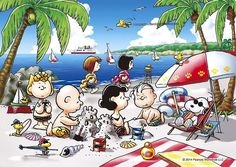Snoopy, Woodstock and Friends and the Rest of the Peanuts Gang at the Beach Doing All Kinds of Summer Activities Peanuts Cartoon, Peanuts Snoopy, Peanuts Comics, Cute Images, Cute Pictures, Snoopy Pictures, Lucy Van Pelt, Snoopy Wallpaper, Snoopy Quotes