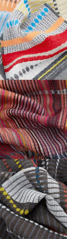 Keep warm! Lovely warm scarves from British designers Wallace Sewell.