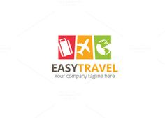 Easy Travel Logo by XpertgraphicD on @creativemarket