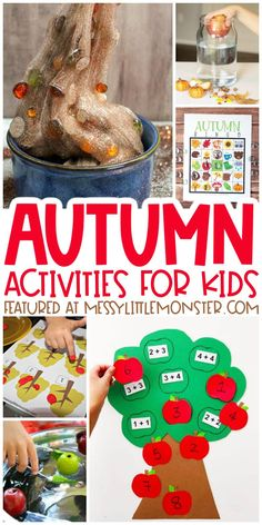 Autumn activities for kids Easy Fall Crafts, Crafts For Kids To Make, Kids Crafts, Creative Arts And Crafts, Creative Activities, Autumn Theme, 1st Day Of Autumn, Fall Games, Bobbing For Apples