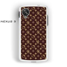 hello kitty monogram for Nexus 4/Nexus 5 phonecases
