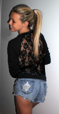 love the sweater with the lace back, you can't go wrong with lace