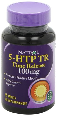 """Natrol 5-HTP TR 100mg Time Release is a drug-free plant-derived source of an amino acid that naturally increases the body's level of serotonin, the chemical messenger that affects emotions, behavior, appetite, thought and sleep. Regular use of Natrol 5-HTP helps provide a more positive outlook, promotes relaxation, calm and greater appetite control. Natrol makes this product in the U.S.A."""