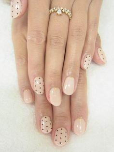 Polka dot nail art.
