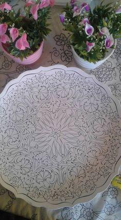 Mandala Pattern, Mandala Design, Turkish Art, Blue Pottery, Sgraffito, Tile Art, Clay Projects, Geometric Art, Arabesque