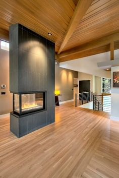 Would be a great idea to make the fireplace see-through into the office with a gas fireplace insert