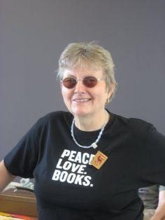 Emoke B'racz. Poet. Bookseller. Founder of Malaprops in Asheville, NC