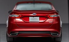2014 Ford Fusion Back View HD Wallpaper Wallpaper