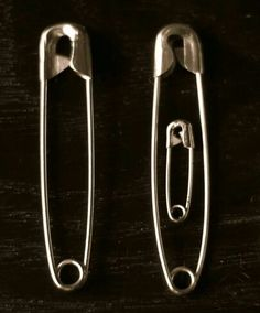 Safety Pin First Baby Announcement