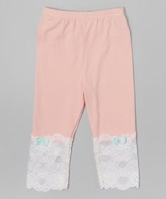 Pink Lace Leggings - Infant, Toddler & Girls | zulily